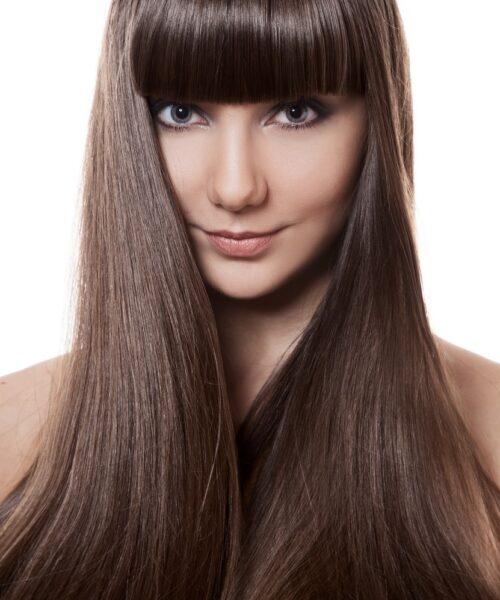 Długie włosy po keratynowym prostowaniu