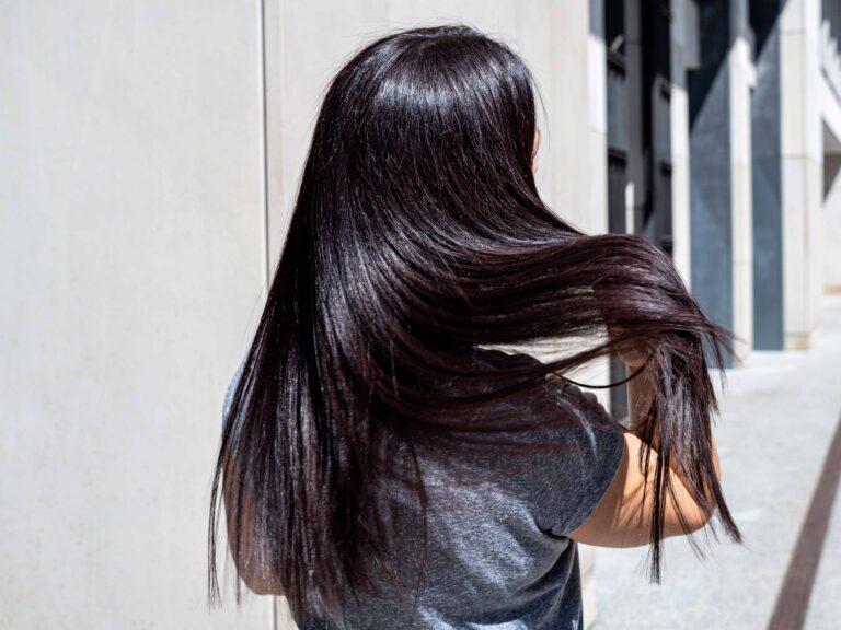 Efekt keratynowego prostowania włosów bezpośrednio po zabiegu