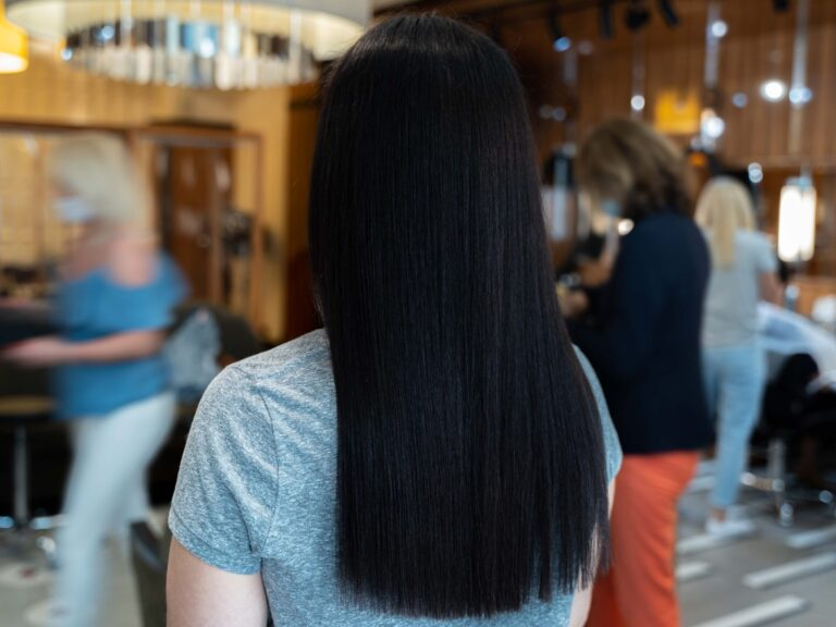 Efekt keratynowego prostowania włosów po dwóch dniach