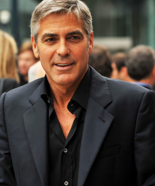 George Clooney. Seksowne siwe włosy