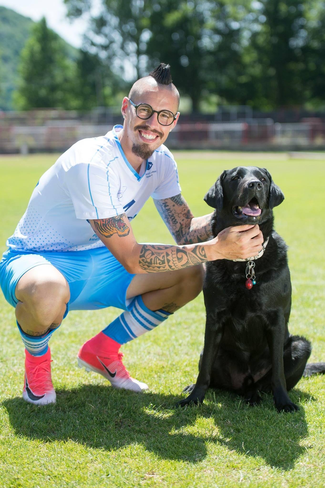 Marek Hamsik z psem