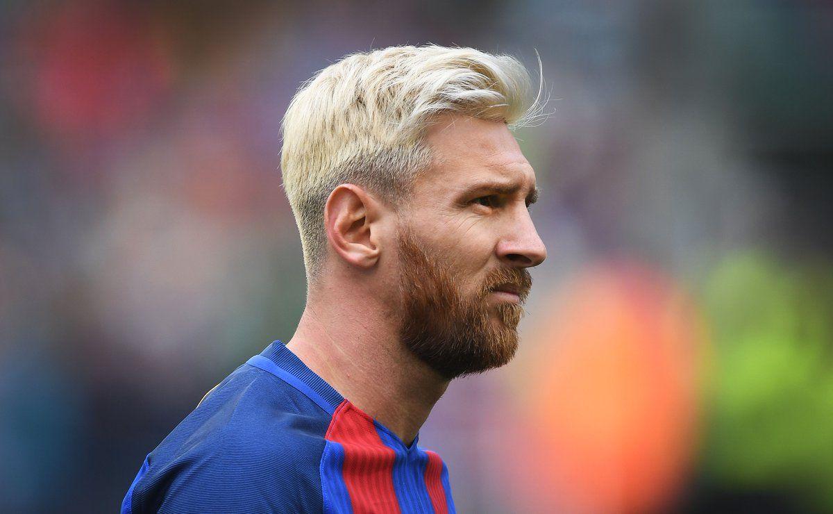 Messi z włosami blond