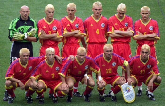 Rumuńscy piłkarze ufarbowani na blond